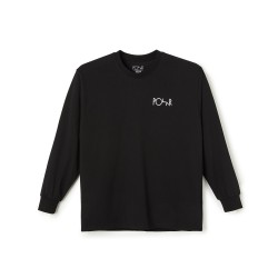 T-SHIRT POLAR SKATE CO ACAB FILL LOGO LS TEE - BLACK