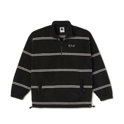 POLAIRE POLAR SKATE CO STRIPE FLEECE 2.0 - BLACK