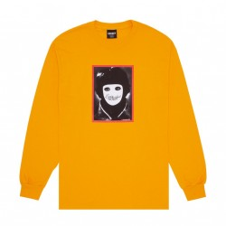 T-SHIRT LS HOCKEY NO FACE - BRIGHT GOLD