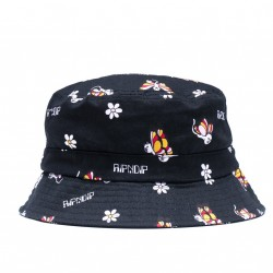 BOB RIPNDIP BUTTERFLY BUCKET HAT - BLACK