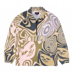 VESTE RIPNDIP HYPNOTIC BRUSHED FLEECE HALF ZIP - MULTI