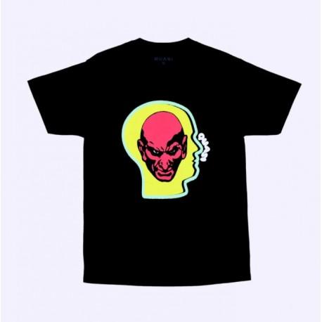 T-SHIRT QUASI HEADS - BLACK