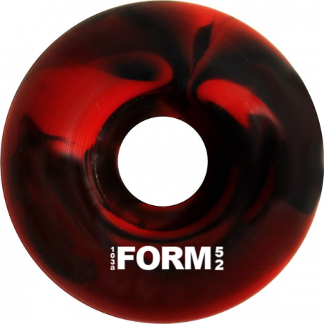 ROUES NAKED FORM WHEELS SWIRL RED BLACK - 52MM