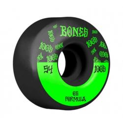 ROUES BONES 100'S 54MM V4 - BLACK