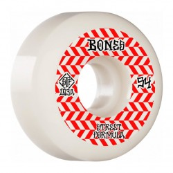 ROUES BONES STF 54MM V5 PATTERNS 103A - WHITE