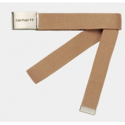 CEINTURE CARHARTT WIP CLIP BELT CHROME - DUSTY H BROWN