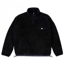 SWEAT MAGENTA MOUNTAIN CREW - BLACK