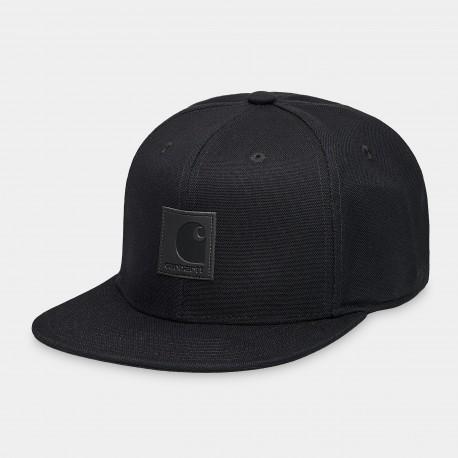 CASQUETTE CARHARTT WIP LOGO CAP - BLACK