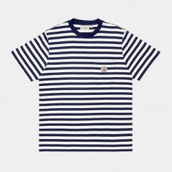 T-SHIRT CARHARTT WIP DENTON STRIPE - SPACE MALAGA