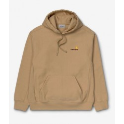 SWEAT CARHARTT WIP HOODED AMERICAN SCRIPT - DUSTY H BROWN