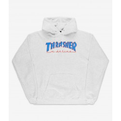 SWEAT THRASHER OUTLINED HOOD - ASH GREY