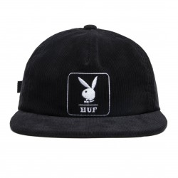 CASQUETTE HUF X PLAYBOY CORDUROY 5 PANEL - BLACK