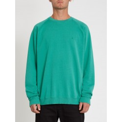 SWEAT VOLCOM FREELEVEN CREW FLEECE - SYNERGY GREEN