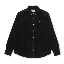 CHEMISE CARHARTT WIP MADISON FINE CORD LS - BLACK WAX
