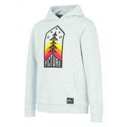 SWEAT PICTURE ORGANIC KID LOOP HOODIE - GREY MELANGE