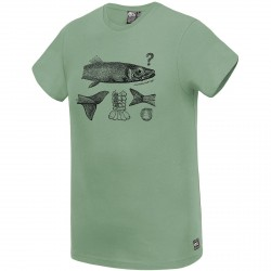 T-SHIRT PICTURE ORGANIC JACK - ARMY GREEN