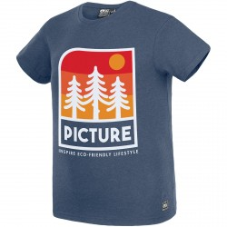 T-SHIRT PICTURE ORGANIC KID MARKAU - DARK BLUE MELANGE