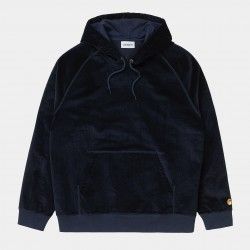 SWEAT CARHARTT WIP HOODED CORD - DARK NAVY GOLD