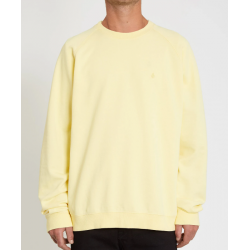SWEAT VOLCOM FREELEVEN CREW FLEECE - DAWN YELLOW