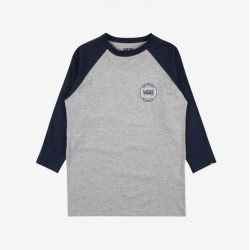 T-SHIRT VANS BY AUTHENTIC RAGLAN - ATHLETIC HEATHER DRESS BLUES