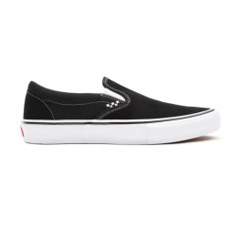CHAUSSURES VANS SLIP ON SKATE - BLACK WHITE