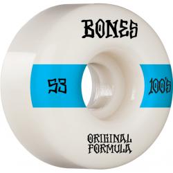 ROUES BONES 100'S 53MM V4 - WHITE