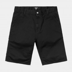 SHORT CARHARTT WIP RUCK SINGLE KNEE - BLACK STONE WASHED