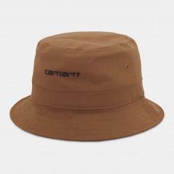BOB CARHARTT WIP SCRIPT BUCKET HAT - RUM BLACK