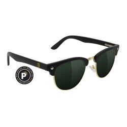 LUNETTES GLASSY MORRISON PREMIUM POLARIZED - BLACK GOLD GREEN LENS