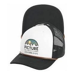 CASQUETTE PICTURE ORGANIC KULDO TRUCKER - BLACK WHITE