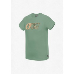 T-SHIRT PICTURE ORGANIC BASEMENT CORK - ARMY GREEN