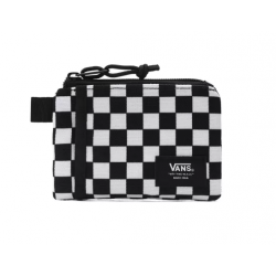 PORTEFEUILLE VANS POUCH WALL - BLACK WHITE CHECK