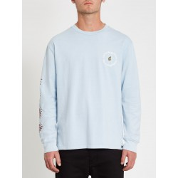 T-SHIRT VOLCOM OZZY WRONG LS TEE - AETHER BLUE
