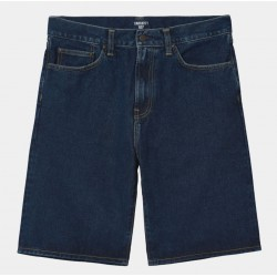 SHORT CARHARTT WIP PONTIAC - BLUE STONE WASHED