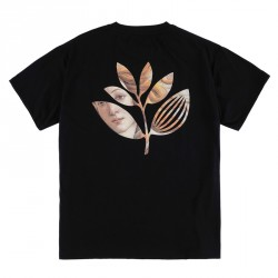 T-SHIRT MAGENTA BOTTICELLI PLANT - BLACK