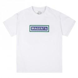 T-SHIRT MAGENTA STATION - WHITE