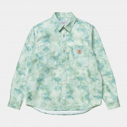 CHEMISE CARHARTT WIP MARBLE LS SHIRT - MARBLE PRINT WAVE STONE