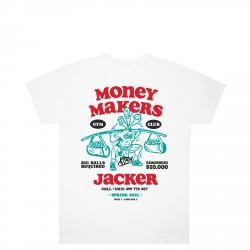 T-SHIRT JACKER MONEY MAKERS - WHITE