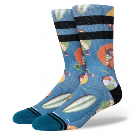 CHAUSSETTES STANCE MONKEY CHILLIN - TEAL