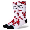 CHAUSSETTES STANCE YOURE MY LOBSTER - WHITE