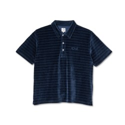 POLO POLAR STRIPE VELOUR - NAVY