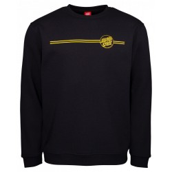 SWEAT SANTA CRUZ OPUS DOT STRIPES CREW - BLACK