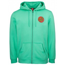 SWEAT SANTA CRUZ CLASSIC DOT HOOD ZIP - JADE GREEN