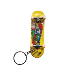PORTE CLÉS SANTA CRUZ SLASHER FINGERBOARD KEYCHAIN - YELLOW