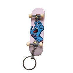 PORTE CLÉS SANTA CRUZ SCREAMING HAND FINGERBOARD KEYCHAIN - WHITE