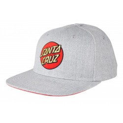 CASQUETTE SANTA CRUZ CLASSIC DOT SNAPBACK - HEATHER GREY
