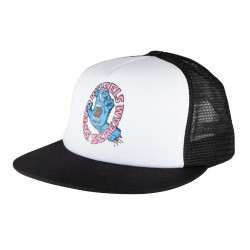 CASQUETTE SANTA CRUZ SCREAMING HAND SCREAM MESHBACK - WHITE BLACK
