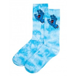 CHAUSSETTES SANTA CRUZ SCREAMING HAND SOCK - BLUE TIE DYE