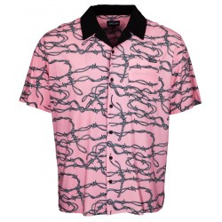 CHEMISE SANTA CRUZ BARBED WIRE SS SHIRT - PINK