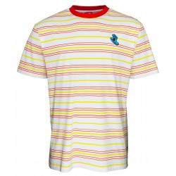 T-SHIRT SANTA CRUZ MINI HAND STRIPE - WHITE